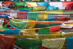 Pray flags in Tibet Stock Images