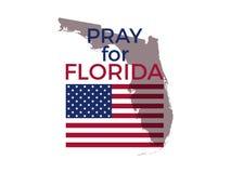 Pray for Florida. Hurricane Irma, natural disaster. Vector. Illustration stock illustration