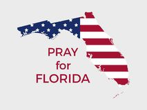 Pray for Florida. Hurricane Irma, natural disaster. Vector. Illustration royalty free illustration