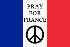 Pray for France Royalty Free Stock Images