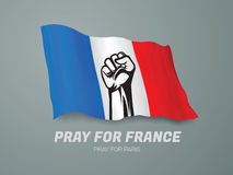 Pray for france Stock Photos