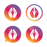 Pray hands sign icon. Religion priest symbol. Royalty Free Stock Image