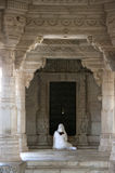 Pray indian jain temple Royalty Free Stock Image