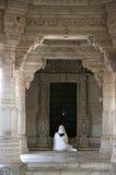 Pray indian jain temple Royalty Free Stock Image