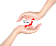 .Pray for JAPAN. Earthquake Crisis. Pray for JAPAN. Earthquake Crisis Royalty Free Stock Photography