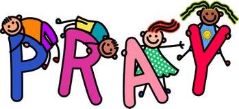 Pray Kids Stock Image