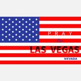Pray for Las Vegas Nevada. American flag. Stock Photos