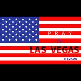 Pray for Las Vegas Nevada. American flag. Tribute to victims of terrorism attack mass shooting in LV October 1, 2017. Support for. Volunteering. Helping concept stock illustration