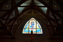 Pray with me tonight. Beautiful church in the summer time in NH Stock Images