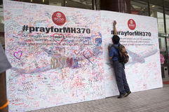 Pray For MH370 Royalty Free Stock Images