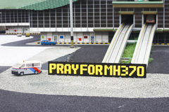 Pray for MH370 Support Stock Image