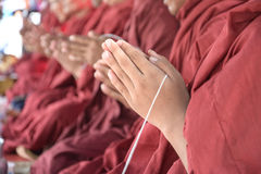 Pray, the monks and religious rituals Royalty Free Stock Images