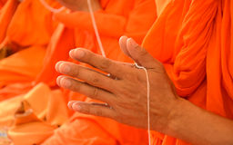 Pray, the monks in thai ceremony Stock Photos