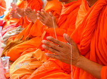 Pray, the monks in thai ceremony Stock Photo