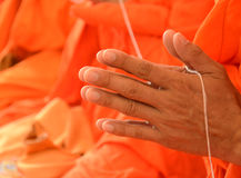 Pray, the monks in thai ceremony Royalty Free Stock Photography