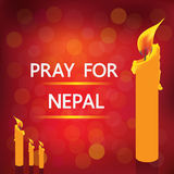 Pray for nepal Royalty Free Stock Image