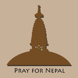 Pray for Nepal disaster. Pray for Nepal earthquake disaster Royalty Free Stock Photography