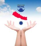 Pray for Nepal. Earthquake Crisis Royalty Free Stock Photos
