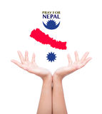 Pray for Nepal. Earthquake Crisis Royalty Free Stock Image
