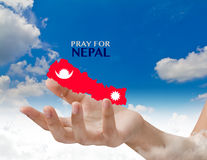 Pray for Nepal. Earthquake Crisis Royalty Free Stock Photography