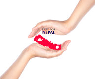 Pray for Nepal. Earthquake Crisis Stock Image