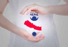 Pray for Nepal. Earthquake Crisis Stock Photos