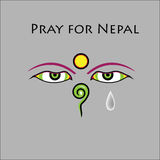 Pray for Nepal earthquake Royalty Free Stock Photo