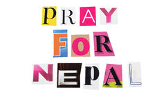 Pray for nepal Royalty Free Stock Images