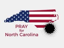 Pray for North Carolina. Hurricane, natural disaster. Storm warning. Vector. Illustration stock illustration