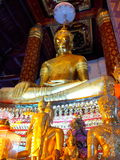Pray. Old Buddha in Ayuttaya Thailand Royalty Free Stock Images