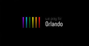 Pray for Orlando artwork collage poster Stock Photos