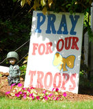 Pray for our troops Royalty Free Stock Images