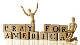 Pray para América imagens de stock