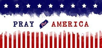 Pray para América Imagem de Stock
