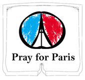 Pray For Paris -  card Royalty Free Stock Images