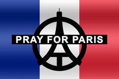 Pray for Paris Stock Photography