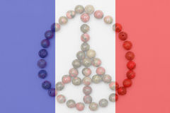Pray for paris, france flag transparent Royalty Free Stock Images