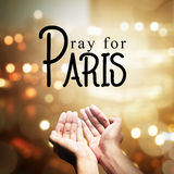 Pray For Paris Royalty Free Stock Photography
