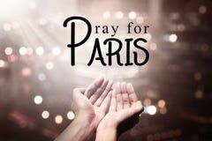 Pray For Paris Stock Photos