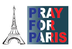 Pray for Paris Stock Photo