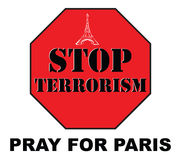 Pray for Paris Stock Images