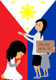 Pray for the Philippines Royalty Free Stock Image