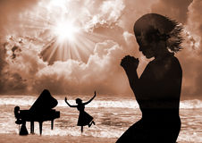 Pray and Praise. Praise The Lord -praise, dance and pray Stock Photography