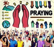 Pray Praying Hope Help Spirituality Religion Concept Stock Images