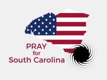 Pray for South Carolina. Hurricane, natural disaster. Storm warning. Vector. Illustration stock illustration