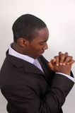Pray For Success. This is an image of a prayerful businessman Royalty Free Stock Image