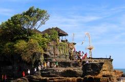 Pray at the temple. Atmosphere at tanah lot bali,  pray ritual at the temple Stock Photo
