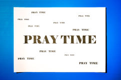 Pray time Stock Images