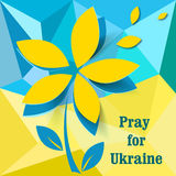 Pray for Ukraine. Pray for the freedom of the country vector illustration