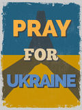 Pray for Ukraine. Motivational Poster. Stock Photos